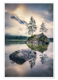 Poster Premium Silence at Hintersee (Berchtesgaden)