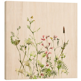 Stampa su legno  Wild Flower Meadow - Dearpumpernickel