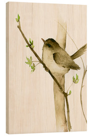 Stampa su legno  Little Songbird - Dearpumpernickel