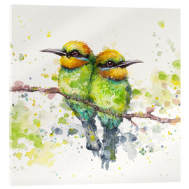 Vetro acrilico  Family (Rainbow Bee Eaters) - Sillier Than Sally