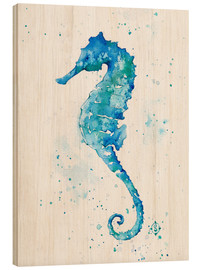 Stampa su legno  Sailing Along (Seahorse) - Sillier Than Sally