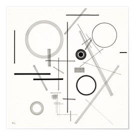 Poster Premium  Cerchi concentrici - Wassily Kandinsky