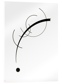 Stampa su vetro acrilico  Free Curve to the Point - Wassily Kandinsky