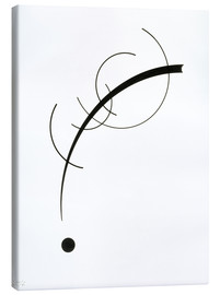 Stampa su tela  Free Curve to the Point - Wassily Kandinsky
