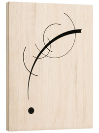 Stampa su legno  Free Curve to the Point - Wassily Kandinsky
