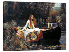 Stampa su tela  La signora di Shalott - John William Waterhouse