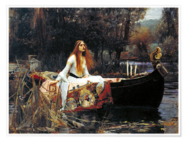 Poster Premium  La signora di Shalott - John William Waterhouse