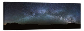 Tela  Panoramic of the Milky way arch in the sky, United States - Matteo Colombo