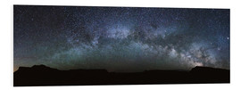 Stampa su schiuma dura  Panoramic of the Milky way arch in the sky, United States - Matteo Colombo