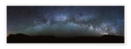 Poster Premium Panoramic of the Milky way arch in the sky, United States
