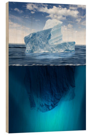 Stampa su legno  Iceberg in the ocean