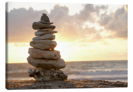 Stampa su tela  Little tower of pebbles