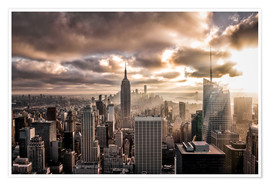 Poster Premium Sunset New York