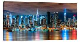 Tela  New York, Midtown Skyline by Night - Sascha Kilmer