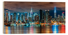 Legno  New York, Midtown Skyline by Night - Sascha Kilmer