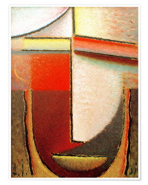 Poster Premium Abstract Head: Evening