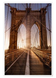 Poster Premium Brooklyn Bridge NYC
