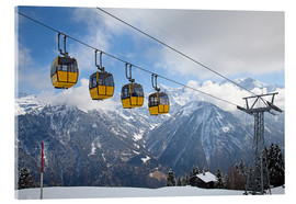 Stampa su vetro acrilico  Cable car in the Alps
