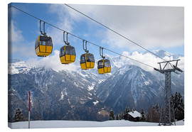 Stampa su tela  Cable car in the Alps