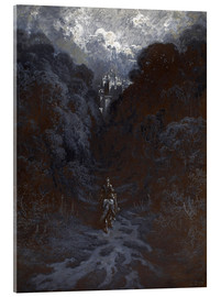 Stampa su vetro acrilico  Sir Lancelot Approaching the Castle of Astolat - Gustave Doré