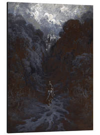 Stampa su alluminio  Sir Lancelot Approaching the Castle of Astolat - Gustave Doré