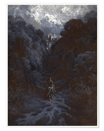 Poster Premium  Sir Lancelot Approaching the Castle of Astolat - Gustave Doré