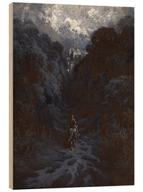 Stampa su legno  Sir Lancelot Approaching the Castle of Astolat - Gustave Doré