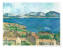 Poster Premium The Bay of Marseille, Seen from L'Estaque