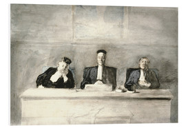 Stampa su schiuma dura  The Three Judges - Honoré Daumier