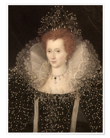 Poster Premium 1570 Queen Elizabeth I of England and Ire