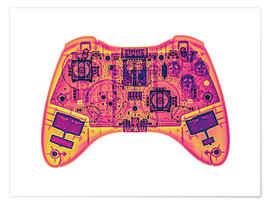 Poster Premium  Computer game controller, X-ray - Gustoimages