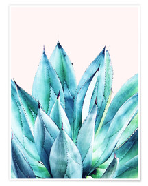 Poster  Agave Watercolor - Uma 83 Oranges