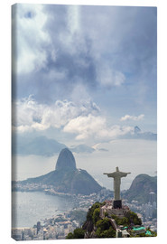Tela  Rio de Janeiro landscape showing Corcovado, the Christ and the Sugar Loaf, UNESCO World Heritage Sit - Alex Robinson