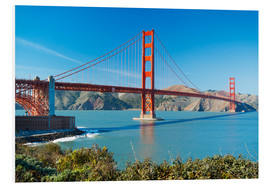 Forex  The Golden Gate Bridge in San Francisco with beautiful blue ocean in background