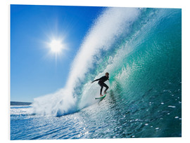Stampa su schiuma dura  Surfer On Blue Ocean Wave