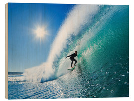 Legno  Surfer On Blue Ocean Wave