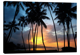 Stampa su tela  Sunset on the north shore of Maui, Spreckelsville, Maui, Hawaii, United States of America - Ron Dahlquist