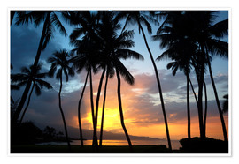 Poster Premium  Sunset on the north shore of Maui, Spreckelsville, Maui, Hawaii, United States of America - Ron Dahlquist