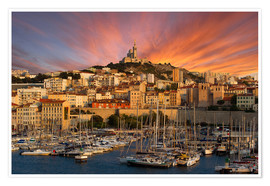 Poster  Marseille sunset - Vincent Xeridat