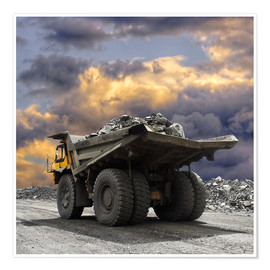 Poster Premium  Severe weather in the gravel pit
