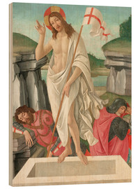 Stampa su legno  The Resurrection - Sandro Botticelli
