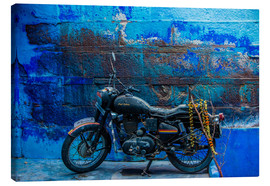 Tela  Motorcycle parked on the street of Jodhpur, the Blue City, Rajasthan, India, Asia - Laura Grier