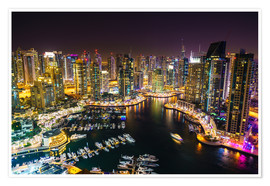 Poster Premium  Dubai Marina, Dubai, United Arab Emirates, Middle East - Fraser Hall
