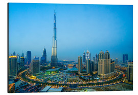 Stampa su alluminio  Burj Khalifa and Downtown Dubai at dusk, Dubai, United Arab Emirates, Middle East - Fraser Hall