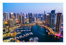 Poster Premium Dubai Marina, Dubai, United Arab Emirates, Middle East