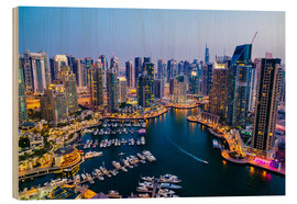 Stampa su legno  Dubai Marina, Dubai, United Arab Emirates, Middle East - Fraser Hall