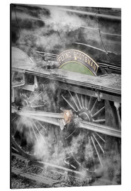 Stampa su alluminio  The Flying Scotsman steam locomotive arriving at Goathland station on the North Yorkshire Moors Rail - John Potter