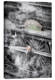 Stampa su tela  The Flying Scotsman steam locomotive arriving at Goathland station on the North Yorkshire Moors Rail - John Potter