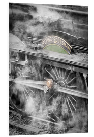 Stampa su schiuma dura  The Flying Scotsman steam locomotive arriving at Goathland station on the North Yorkshire Moors Rail - John Potter