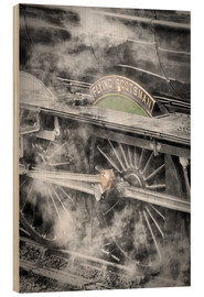 Legno  The Flying Scotsman steam locomotive arriving at Goathland station on the North Yorkshire Moors Rail - John Potter
